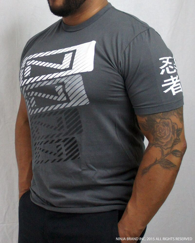 Men's N-Stack NINJA PLEASE T-Shirt - Heavy Metal Gray - Side View