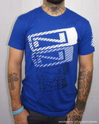 Men's N-Stack NINJA PLEASE T-Shirt - Royal Blue - Front View