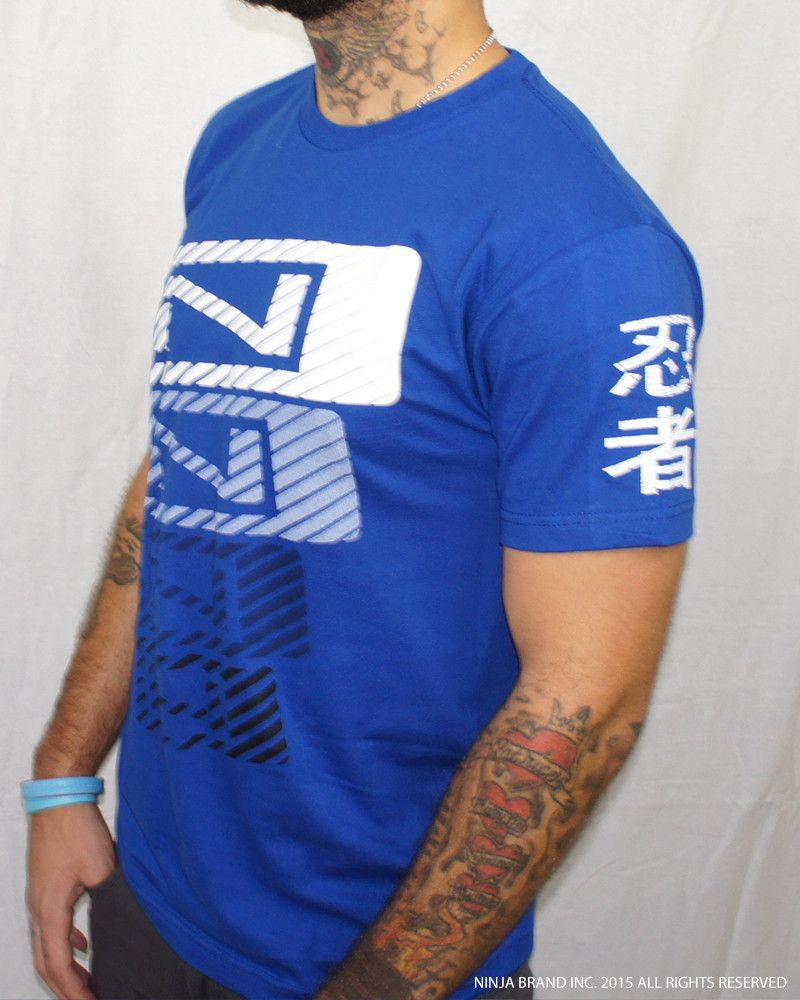 Men's N-Stack NINJA PLEASE T-Shirt - Royal Blue - Side View