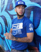 Men's N-Stack NINJA PLEASE T-Shirt - Royal Blue - Street View