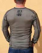 Ninja Brand Inc Ninja Tactical N-Tac Rashguard in Olive Drab Green - Back View