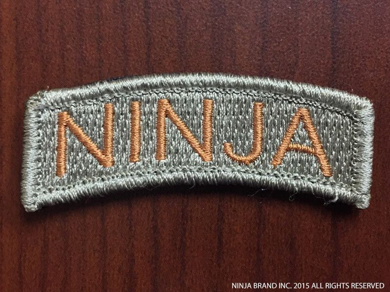 Ninja Tab Patch - Mission Flown - ODG - Velcro backing - Front View