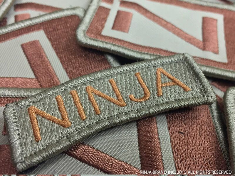 Ninja Tab Patch - Mission Flown - ODG - Velcro backing - Patches View 1