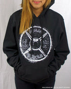Ninja Muscle Plate Hoodie - Black - Front View Female