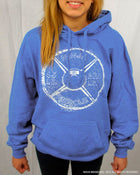 Ninja Muscle Plate Hoodie - Heather Blue - Front View Female