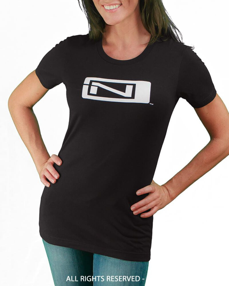 Women's Relax Cut T-Shirt - N-Logo / Ninja Please - Black - Front View