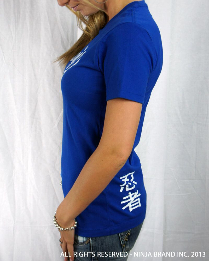 Women's Vintage NBI Logo Relaxed Cut T-Shirt - Royal Blue - Side View