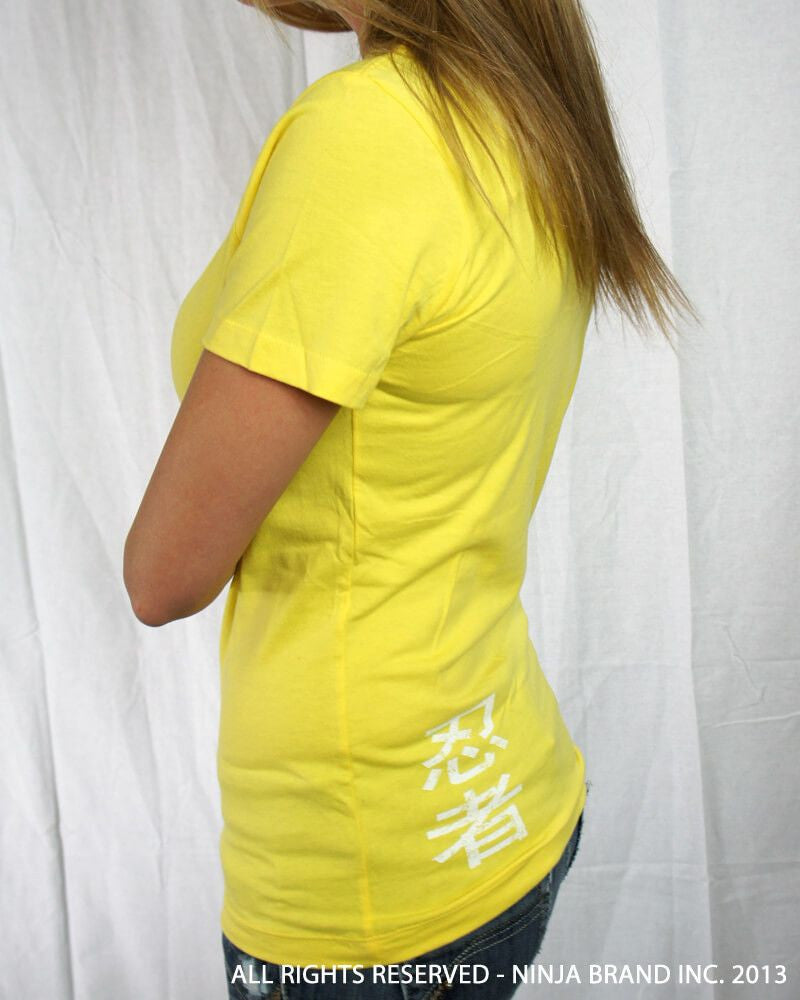 Women's Vintage NBI Logo Relaxed Cut T-Shirt - Yellow - Side View