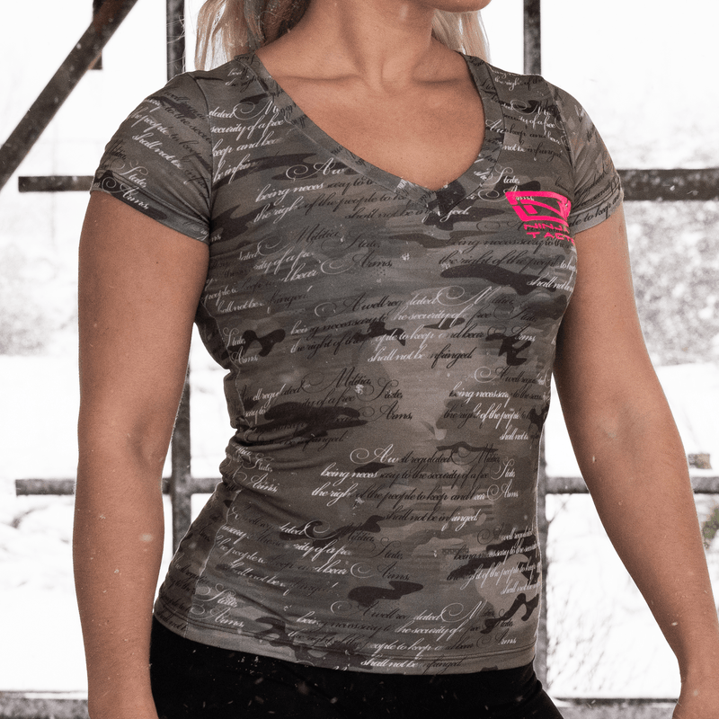 2nd Amendment Camo Women's V-Neck