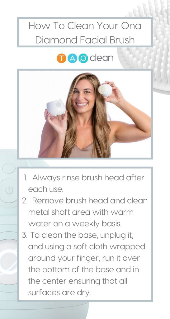 Cleaning your facebrush
