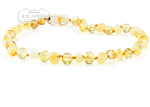 Baltic Amber Teething Necklace for Children - Screw Clasp - R.B. Amber & Sons