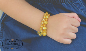 Baltic Amber Aromatherapy Children's Bracelet - R.B. Amber & Sons