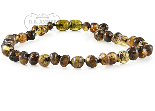 Baltic Amber Necklace for Children - Screw Clasp 1