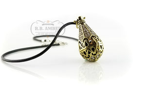 Aromatherapy Essential Oil Diffuser Locket - R.B. Amber & Sons