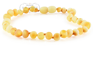 Baltic Amber Teething Necklace for Children - Pop Clasp - R.B. Amber & Sons