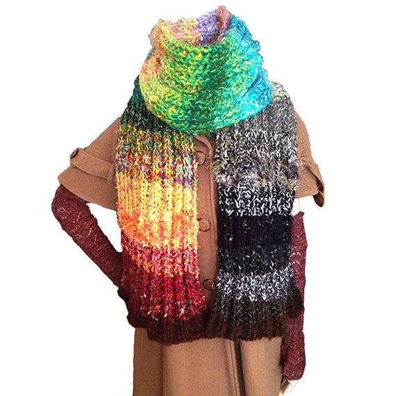 4 Seasons 3 Ways Scarf/Jacket Downloadable PDF Knitting Pattern