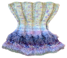 Load image into Gallery viewer, Reversible Capelet Hand-knitted Sample in Blue Moon