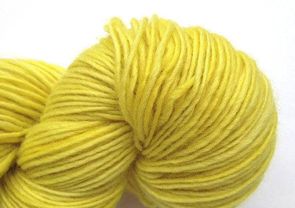 Hand-painted, luxury merino wool/cashmere fingering-weight yarn in Canary Diamond (clear yellow/gold)