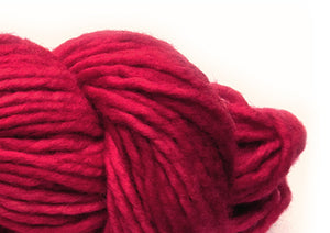 Hand-painted bulky-weight Australian Merino Wool yarn in Cardinal