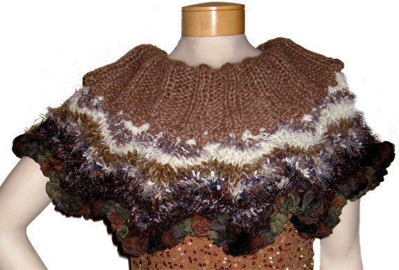 Chevron Capelet Downloadable PDF Knitting Pattern