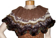 Load image into Gallery viewer, Chevron Capelet Downloadable PDF Knitting Pattern