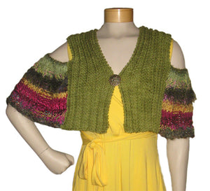 Cold-Shoulder Capelet Downloadable PDF Knitting Pattern