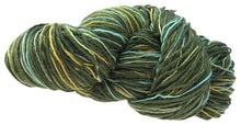 Load image into Gallery viewer, Stranded Skeins multi-strand art yarn in Cypress (sage/olive/turquoise/gold)