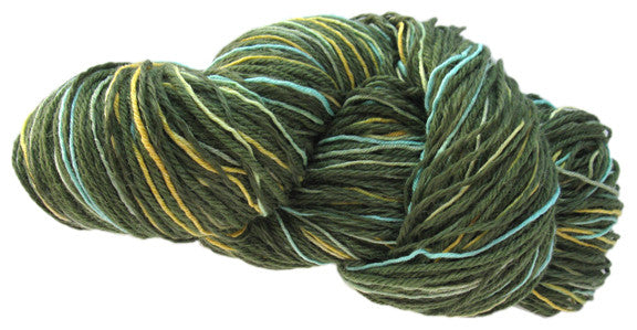 Stranded Skeins multi-strand art yarn in Cypress (sage/olive/turquoise/gold)