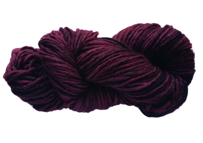 Hand-painted bulky-weight Australian Merino Wool yarn in Garnet