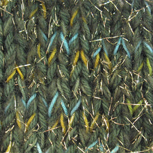 Load image into Gallery viewer, Stranded Skeins multi-strand art yarn in Golden Cypress (sage/olive/turquoise/gold/metallic gold)