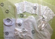 Load image into Gallery viewer, DIY Sheer White Lace-trimmed Bra Sewing Kit, Dyeable, FREE Wash Bag Included!