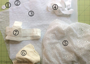 DIY Sheer White Lacy Panty Sewing Kit, Dyeable, FREE Wash Bag Included!