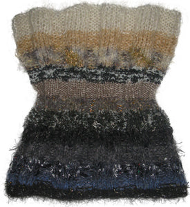 Reversible Capelet Hand-knitted Sample in Neutral Territory