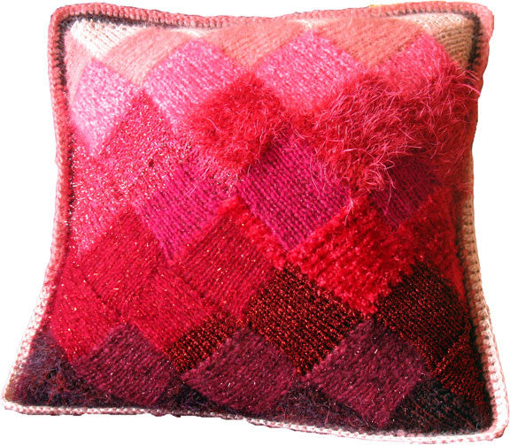 Entrelac Pillow Downloadable PDF Knitting Pattern