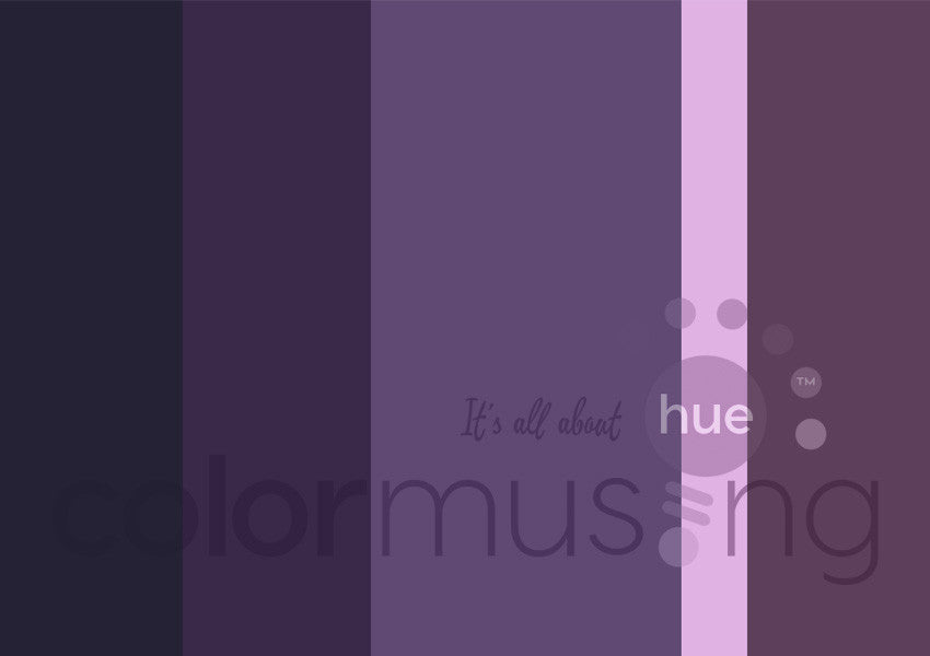 Amethyst Color Palette: Downloadable Editable PSD/JPEG Files
