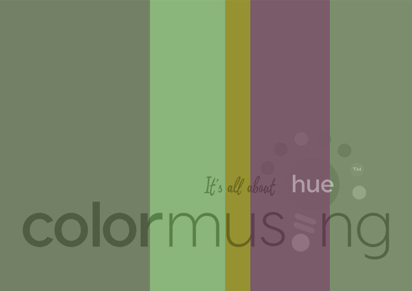 Artichoke Color Palette: Downloadable Editable PSD/JPEG Files