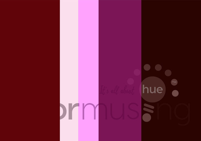 Bi-color Dahlia Color Palette: Downloadable Editable PSD/JPEG Files