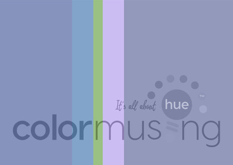 Blue Moon Color Palette: Downloadable Editable PSD/JPEG Files
