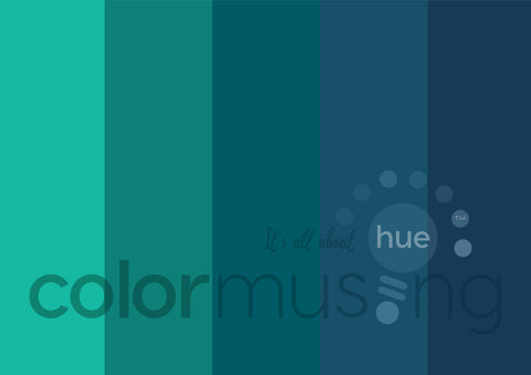 Blue Christmas Color Palette: Downloadable Editable PSD/JPEG Files