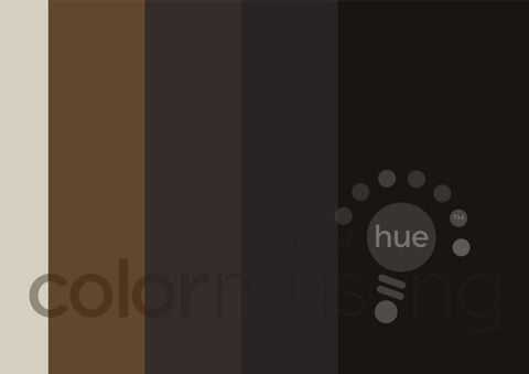 Café Creme Color Palette: Downloadable Editable PSD/JPEG Files