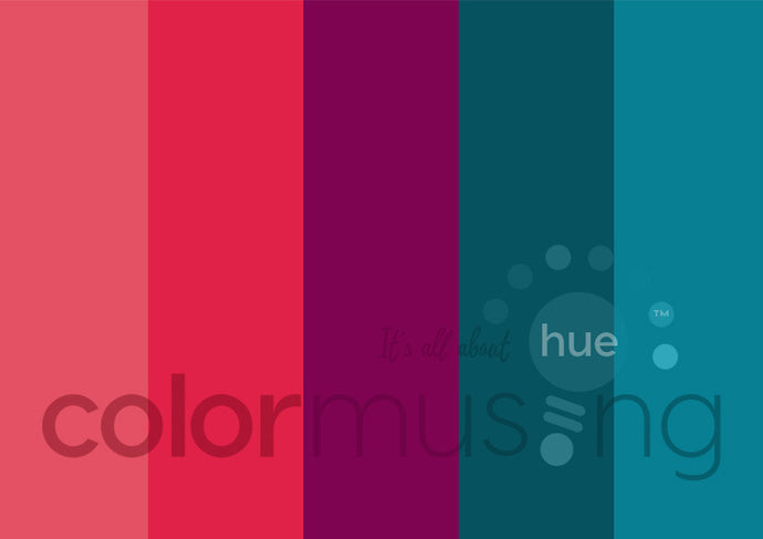 Caribbean Christmas Color Palette: Downloadable Editable PSD/JPEG Files