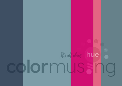 Carmel Blue Fuchsia Color Palette: Downloadable Editable PSD/JPEG Files