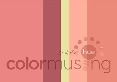 Coral Reef Color Palette: Downloadable Editable PSD/JPEG Files