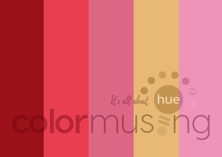 Rose Red Color Palette: Downloadable Editable PSD/JPEG Files