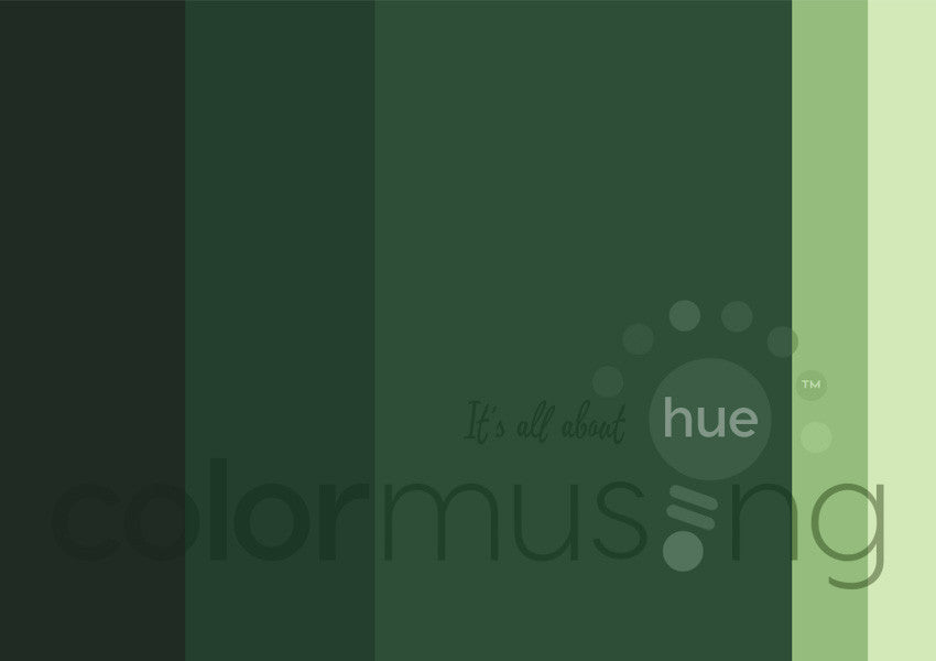 Deep Green Sea Color Palette: Downloadable Editable PSD/JPEG Files