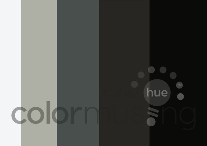 Fade to Black Color Palette: Downloadable Editable PSD/JPEG Files