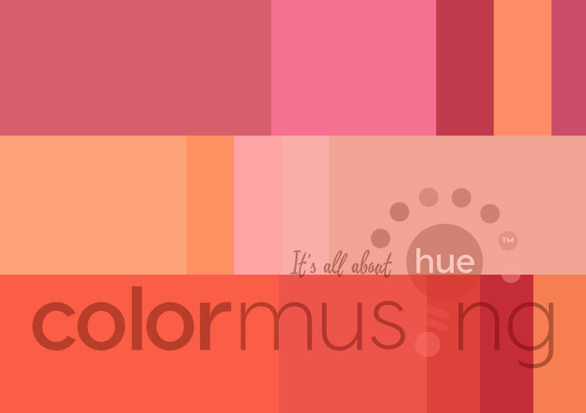 Flamingo Curated Color Palettes Collection, instant-download set of 3 palettes, editable PSD/JPEG files
