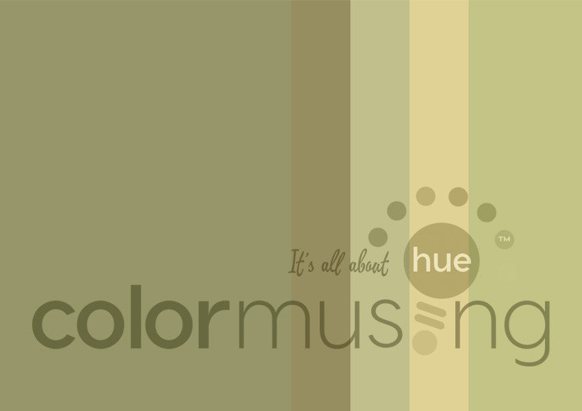Golden Sage Color Palette: Downloadable Editable PSD/JPEG Files