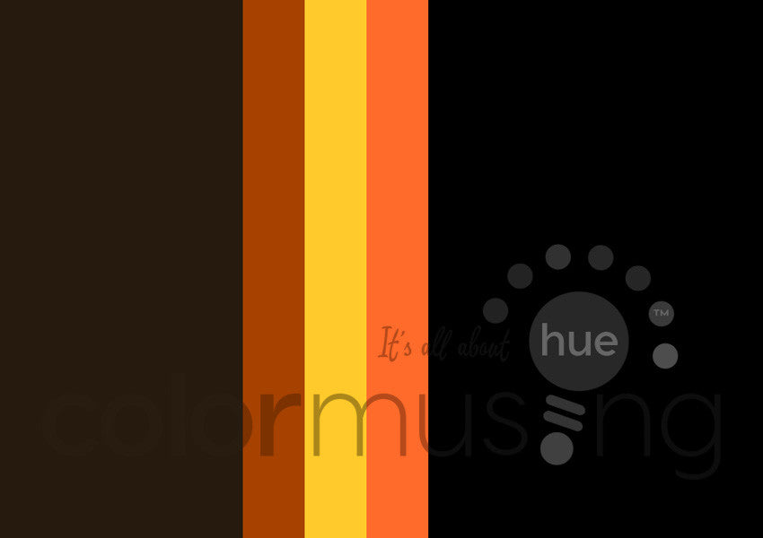 Halloween Color Palette: Downloadable Editable PSD/JPEG Files