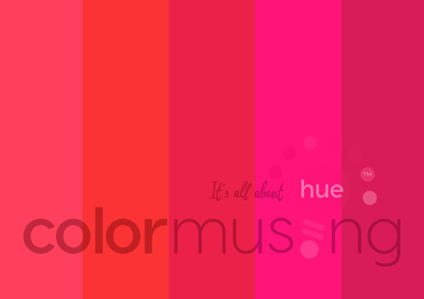 Hot Poppy Color Palette: Downloadable Editable PSD/JPEG Files